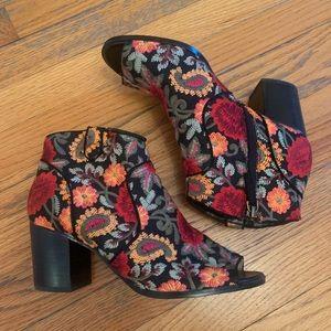 Crown Vintage Shoes - Crown Vintage Frankie Embroidered Booties